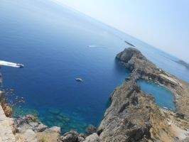 View from Lindos by somekindofgeri