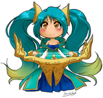 LoL: Chibi Sona by Thanysa
