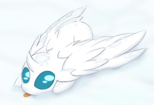 MLP Oc-someone is hiding in the snow by RomanticGaze