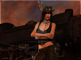 Steampunk Express by Laschae