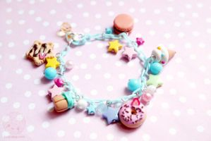 Rainbow Candy Bracelet by kukishop