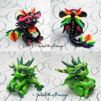 Rainbow and Saint Patricks Dragons by SweetMayDreams