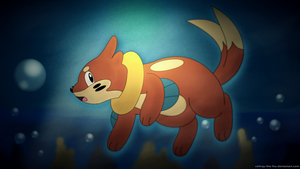 Buizel - the midnight diver by Foxie-The-Vulpix