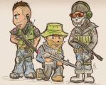 COD: Chibi Task Force by chocolatetater-tot