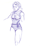Teela Bluepen Sketch by noelle-chan