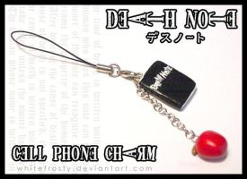 DEATH NOTE Cell Phone Charm by whitefrosty