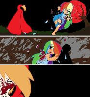 Blood Red Moon Rainbow Dash by AppleCider1412