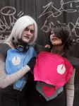 Napstabot and Mettaton Ex (Undertale) by Groucho91