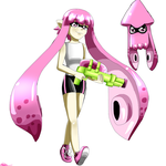 Splatoon-Pink Squid by XMaria-Onee-SamaX