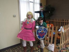 Akicon 2013- Zelda and Link by XGamer-MaidenX