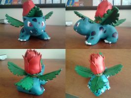 Sculpture # 1 - Ivysaur by Lucidious89