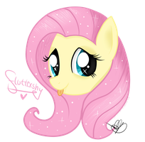 Fluttershy's head by Balloons504