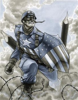 WWII Ultimate Captain America by RichardCox