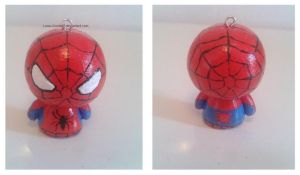 Spiderman Clay Charm Commission by Luna-Goodies
