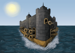 Floating Fortress: Winds of Fortune by kudos-praze