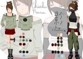 Chiaku Nara - reference sheet by Mauvillain