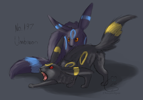 No. 197 Umbreon by CheezieSpaz