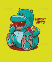 Hungry Hippo Vector by caffeinesoup