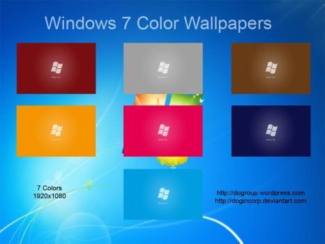Windows 7 Color Wallpapers by Dogincorp