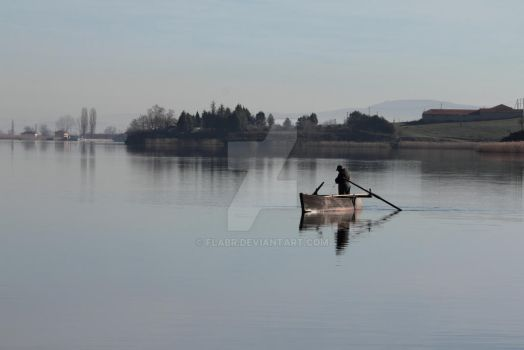 Fishing alone by flabr