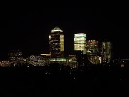 Canary Wharf at Night by loungefrog