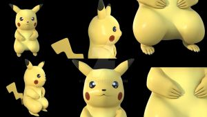 Pikachu study by Cuenk89