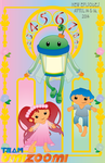 Team Umizoomi Art Nouveau Poster by ChameleonCove
