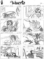 EL MUERTO movie storyboards by javierhernandez