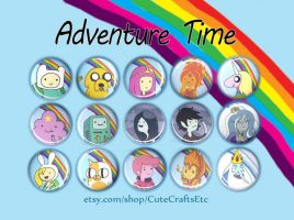 Adventure Time Buttons by MyFebronia