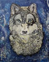 Wolf Portrait by narniamushroom02