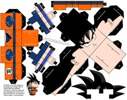 Goku - Dragonball Z version by cubeecraft