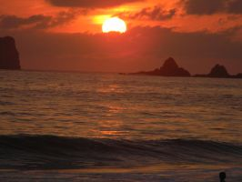Sea Sunset Ixtapa by ShadowMaster29