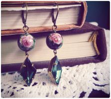 Velvet Emerald Earrings by GingerKellyStudio