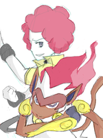 Flint and Infernape by isym07