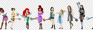 Kingdom Hearts Female Masters by SelenaEde