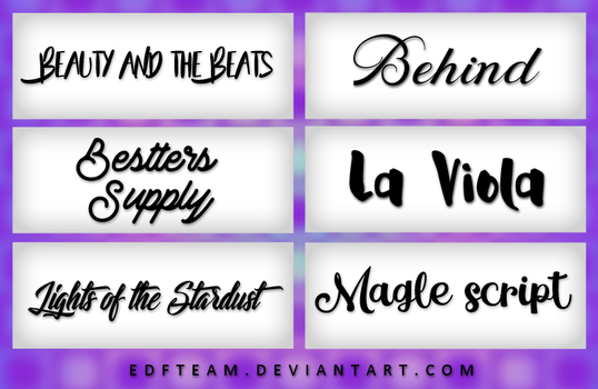 +Pack Fonts #6 by EDFTeam