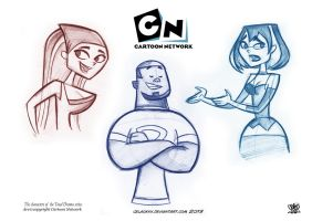 The characters of the Total Drama series by celaoxxx