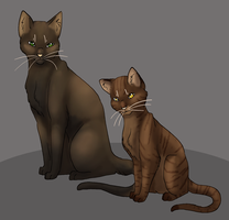 Mousefur and Bramblepaw by Aira90