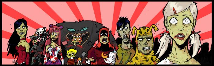 zombified central comics by Head-Jam