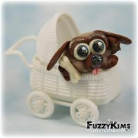 Polymer Clay Puppy Dog by KIMMIESCLAYKREATIONS