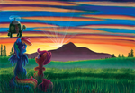 Rainbow Dash and Scootaloo: Sunrise Viewing by LinksLove