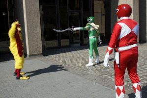 MMPR vs Chicken GIF by Catgirl-Calla