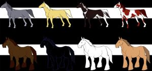 horse templates by mau