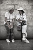 Ladies Conversing in Nazareth by JennyLynnPhotography