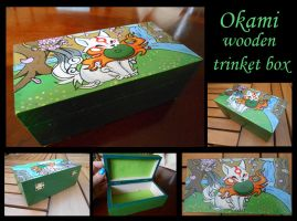 *FOR SALE* Okami wooden trinket box by stephanie1600