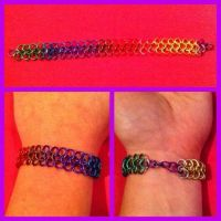 Colour Spectrum Chainmail Bracelet by sfxbecks