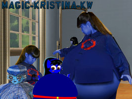 Collage of various blueberry versions of me by Magic-Kristina-KW