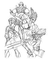 Neo Thundercas Ho! quick lines by cheetor182
