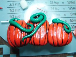 Pumpkin Patch hairclip by Wolf-Witch