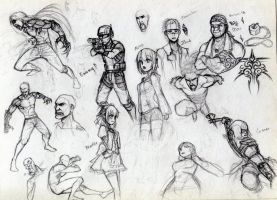 Random OC and fan sketches by ErMaoWu